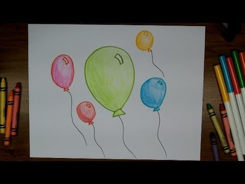 balloon drawing for kids - photo #42