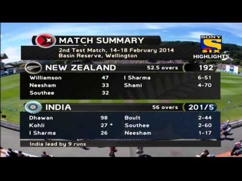 India vs New Zealand | Day 2 | Highlights | 2nd Test | 2014