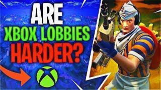 ARE XBOX LOBBIES HARDER? (Fortnite Battle Royale)