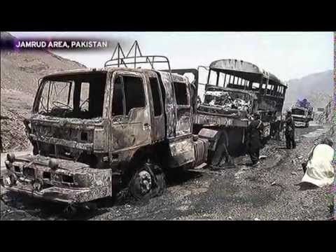 6 drivers die in Paki-punjabi ISI attack on NATO trucks in Khyber region of Pakhtunkhwa