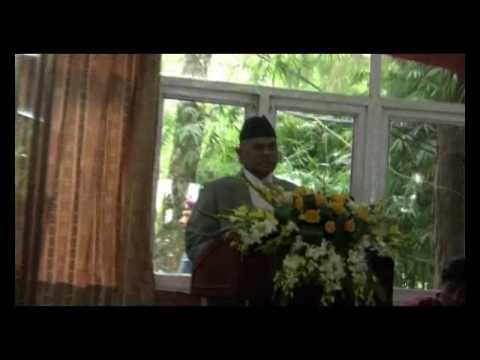 Honorable President of Nepal Dr Ram Baran Yadav Visiting Osho Tapoban.flv