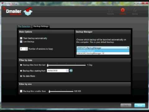 Dmailer Backup Manager Tutorial