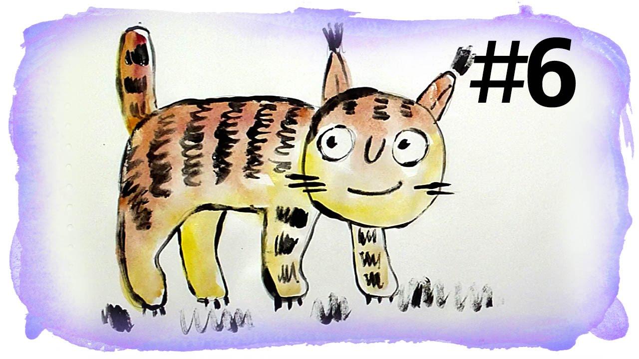 Папа рисует рыба кит кошек