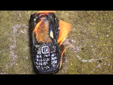 NOKIA MOBILE PHONE how long will it last ringing when ON FIRE burn test