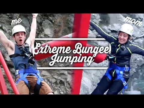 Extreme Bungee Jumping (w  My Mom) video