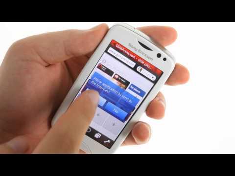 Sony Ericsson txt pro user interface demo