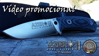 Azero Epsilon Knife video promo 1 / escuela de supervivencia JJ.Adventure