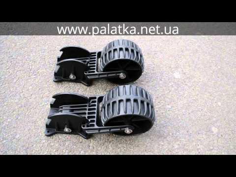 колеса транцевые kolibri пластиковые