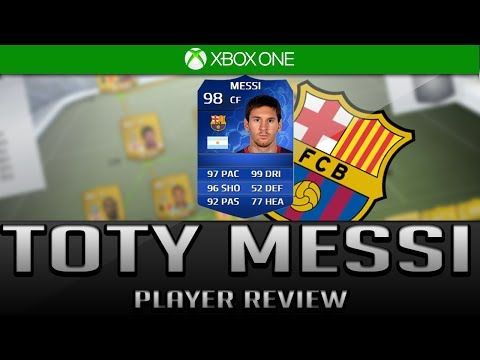 FIFA 14 Ultimate Team   TOTY (98) ST LIONEL MESSI PLAYER REVIEW + In Game stats