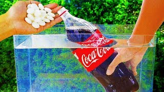 MENTOS VS COCA COLA UNDERWATER