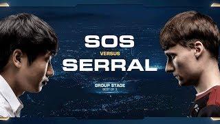 sOs vs Serral PvZ - Group B - 2018 WCS Global Finals - StarCraft II