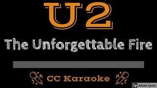 U2 • The Unforgettable Fire (CC) [Karaoke Instrumental Lyrics]