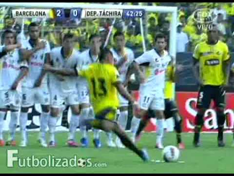 Barcelona S.C. 5 - Deportivo Táchira 1. Copa Sudamericana 2012