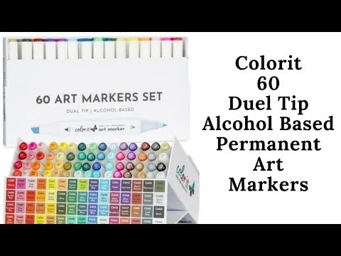 Complete Review and Demo of Colorit 60 Alcohol Marker Set