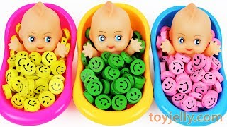 download lagu Learn Colors Baby Doll Finger Family Song Smiley Candy gratis