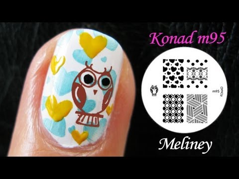 SUMMER NAILS | OWL CITY NAIL ART | Konad Stamping Animal Design Tutorial M95 Easy Beginner Simple