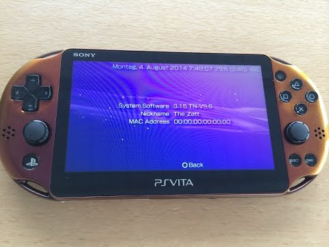 PS Vita: Firmware 3.15 running the TN-V9.6 eCFW