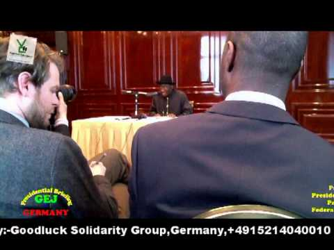 Nigerian President Goodluck Jonathan in Germany (Part 1)