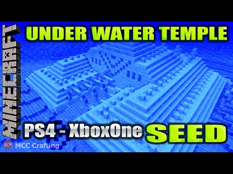 Minecraft Under Water Temple Found Location Review And Seed Number PS4/XboxOne