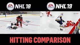 NHL 19 vs NHL 18 Hitting Comparison