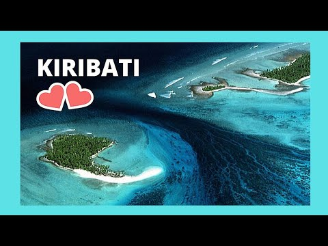 Kiribati, crossing between two remote islands at low tide (Tarawa Atoll, Central Pacific)