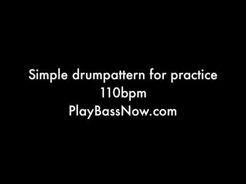 110 bpm Drum machine loop pattern