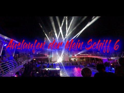 """Mein Schiff 6 - Auslaufen in La Romana - Auslauf-Hymne """"Große Freiheit"""" von Unheilig."""