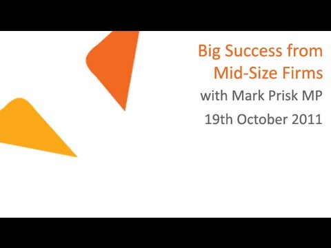 Big Success from Mid-Size Firms with Mark Prisk MP | 19.10.2011