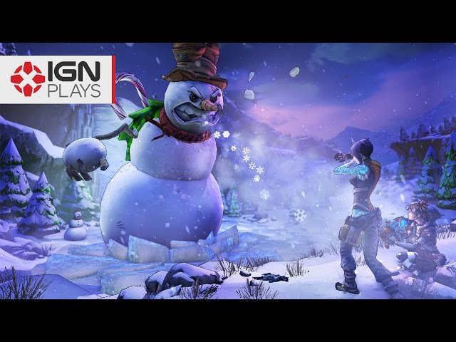 Hunting a Giant Snowman in Borderlands the Handsome Collection - IGN Plays Live