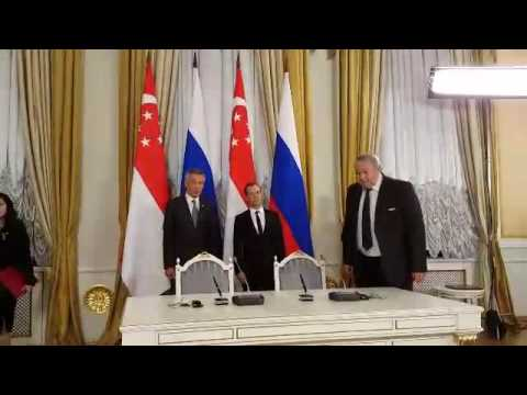 Signing of MOUs between Russia and Singapore