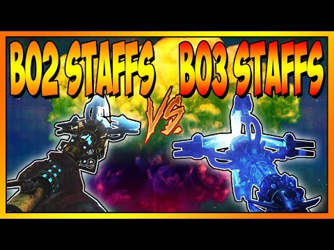 BO2 STAFFS v.s BO3 STAFFS ON ROUND 50 - CALL OF DUTY ZOMBIES (BO2-BO3)