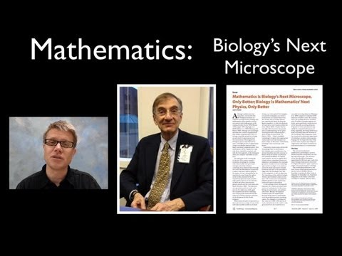 Mathematics - Biology's New Microscope