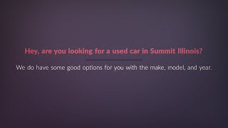 Summit Illinois Auto Loans For Bad Credit