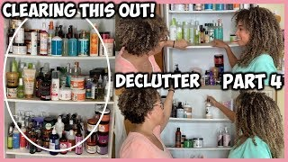 HUGE DECLUTTER OF NATURAL HAIR PRODUCT SHELF | WE ARE ALMOST DONE!