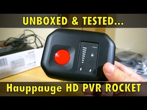 Hauppauge HD PVR ROCKET - UNBOXING & TEST - Review