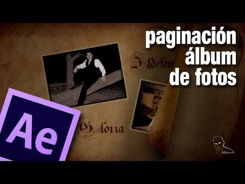 Tutorial after effects: paso de página de album de fotos by @ildefonsosegura