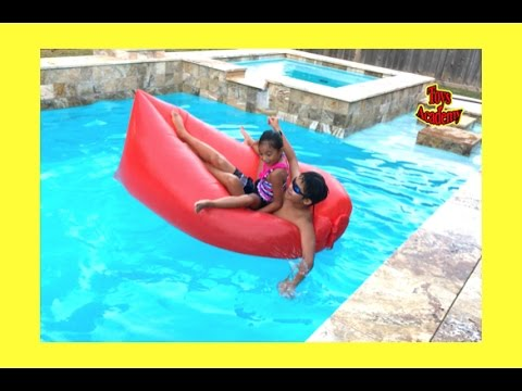 Easy Inflatable Air Lounger Bed Outdoor Hangout Pool Lazy Lay Bag Reviews