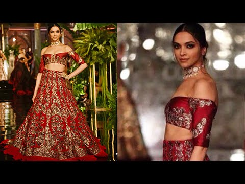 Deepika Padukone Divine Look In Off Shoulder Choli – India Couture Week 2016