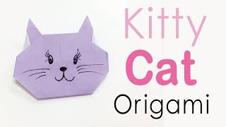 Easy☺︎ Origami Paper Kitty Cat ❤️ - Origami Kawaii