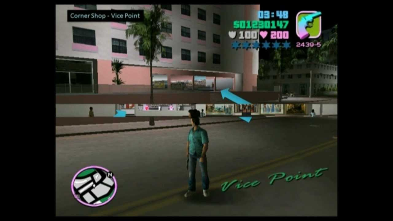 Vice City Map Properties ROBBING STORES GTA Vice City