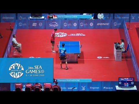 Table Tennis Singapore vs Laos Match 2 (Mens Team 1st Round)| 28th SEA Games Singapore 2015