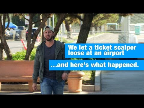 Airline Ticket Scalper Prank | Ticketmaster Verified (:30)
