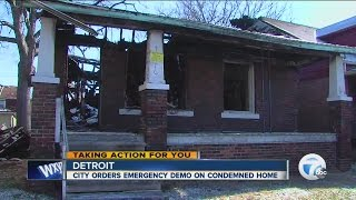 City orders condemned house torn down