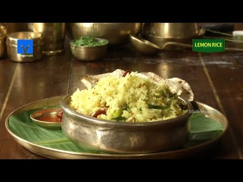 Lemon Rice (నిమ్మకాయ పులిహోర) - How to Make Lemon Rice - Telugu Ruchi - Cooking Videos
