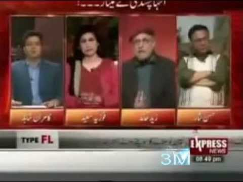 Pakistan : Zaid Hamid at his best with Hassan Nisar .