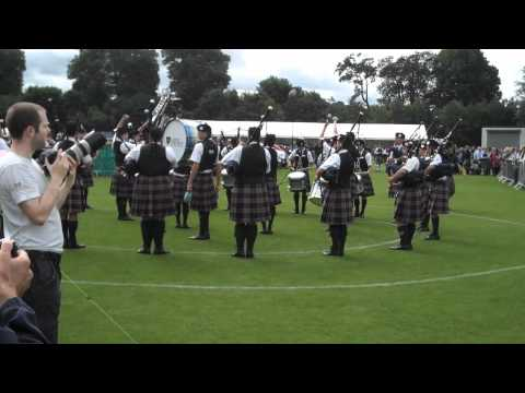 St Thomas Episcopal School Pipe Band - Europeans 2010