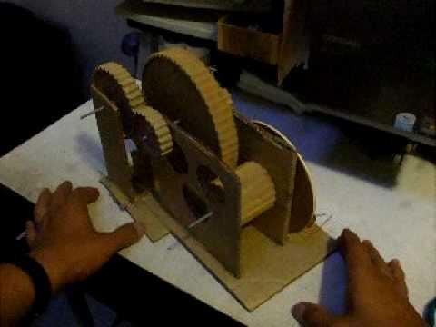 Diy gear trains trenes de engranes hechos en casa youtube for Mecanismos de estores caseros