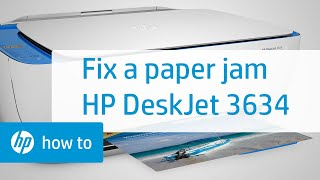 Fixing a Paper Jam on the HP DeskJet 3634 Printer