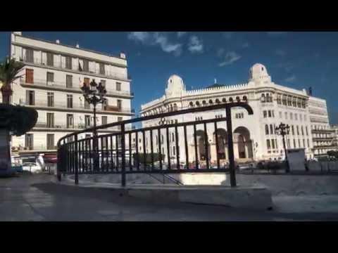 La Grande Poste, Alger, Algerie. Time Lapse, Dolly.
