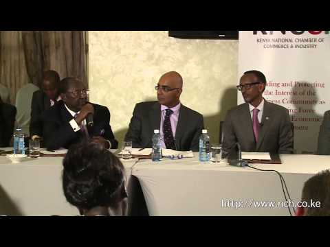His Excellency President Paul Kagame,Engages @kenya_chamber East Africa